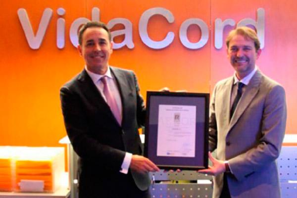 VidaCord obtiene el certificado AENOR de calidad ISO