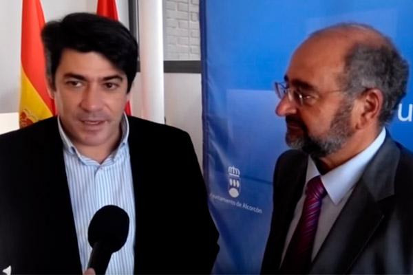 Jesús Navarro y David Pérez tras reunión para la presentación de nueva Junta Directiva de AEPA