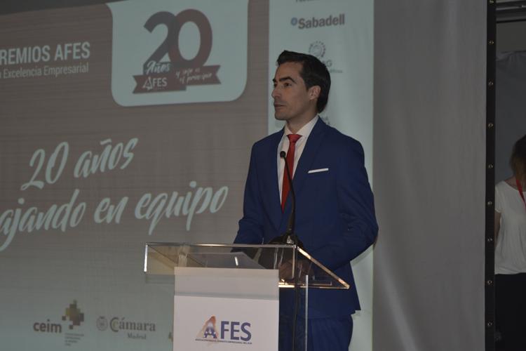 José Manuel Roldán, Presidente de AFES, al iniciar su intervención.