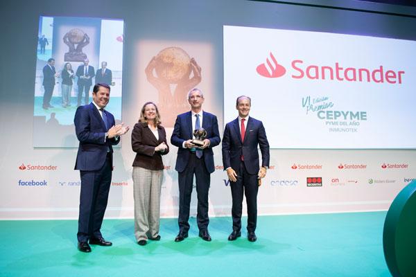 Inmunotek, Empresa del Parque Científico Tecnológico TecnoAlcalá, recibe el premio PYME del año en la VI edición de los premios CEPYME